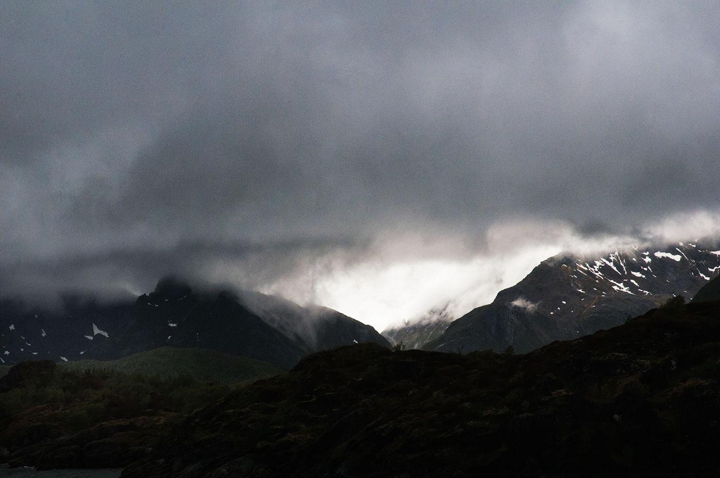 dimma på berg